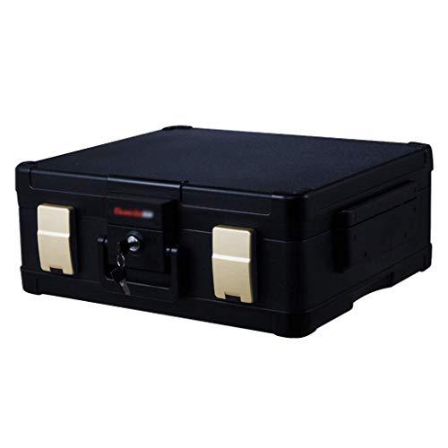 XiYou Caja Fuerte de Seguridad, portátil, anticuada, con depósito de Cerradura mecánica Pequeño Almacenamiento a Prueba de Fuego para el hogar (Oro, 50,7 * 43,6 * 18,7 cm)