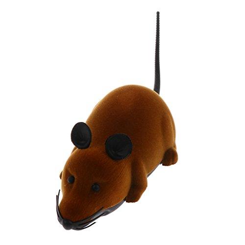 Mini Telecomando Del Mouse Rc Topi con Regolatore Regalo Del Giocattolo A Distanza Di Anni 3+ Bambini Bambini Marrone