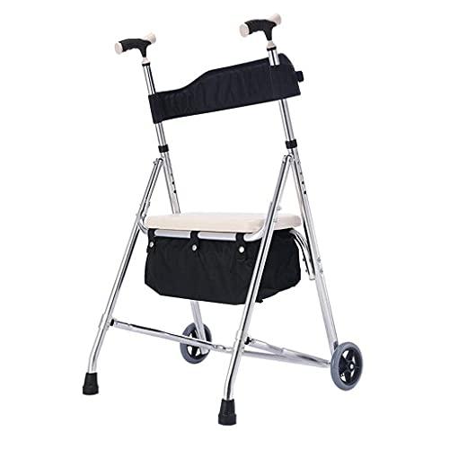 YYAI-HHJU Andador para Discapacitados Apoyabrazos Andador De Cuatro Ruedas Andador Plegable Asistido Agarre Ergonómico con Asiento
