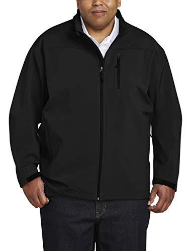 Amazon Essentials Water-Resistant Softshell Jacket Chaqueta, Negro (Black), Medium