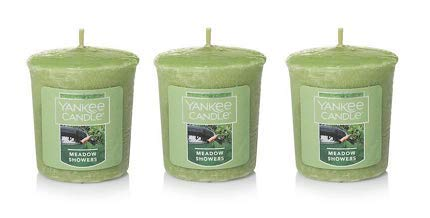 Yankee Candle 3 Pack Meadow Showers Samplers Votive Candles 1.75 Oz. Each.