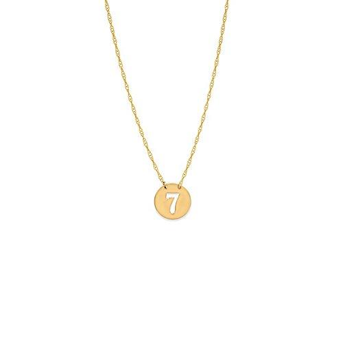 14ct Geel Goud Verstelbare Mini Schijf Uitgesneden 7 Inch Ketting Touw Met Lente Ring Sluiting - 46 Centimeters