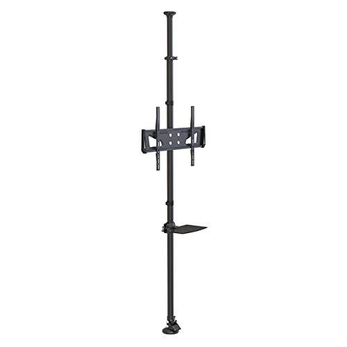Tripp Lite Floor-to-Ceiling TV Mount for 32' to 65' Displays, Height Adjustable, Shelf for A/V Source, Black (DMFC3265M)