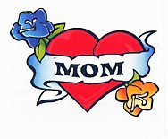 Mom Heart Flowers Temporary Tattoos Dallas Mall MADE Skin Safe 3-Pk Product