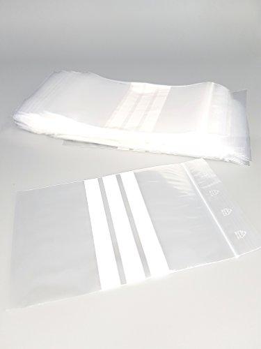 Sachet fermeture Zip - 3 Bandes Blanches - Lot de 100 - 50 microns (40mm x 60mm)