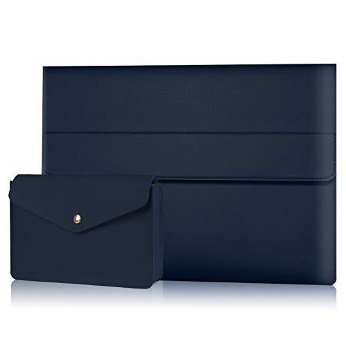 Alfheim Funda para portátil de Cuero de 12,3-13 Pulgadas, Impermeable & Estuche Protector Delgado, Cubierta de maletín sintético magnético con Bolsa pequeña para Macbook Pro Air/Surface/DELL