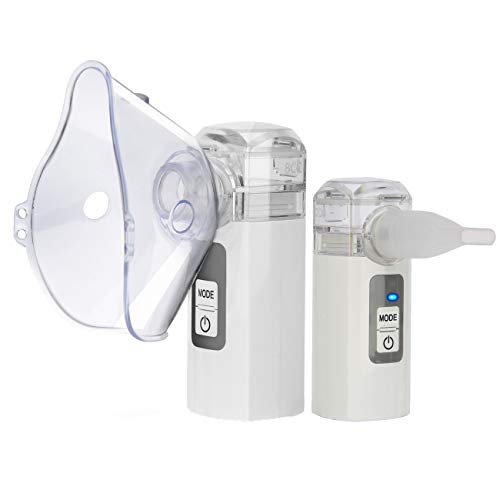 Tangxia Cordless Personal Steam Inhaler Portable Nebulisers, Breathing Machine Nebuliser Handheld Nebuliser with Self-clean Design, Easy to Clean and No More Clogging