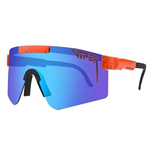 CWWHY Gafas De Sol para Ciclismo, Gafas Polarizadas Unisex, Gafas Deportivas para Exteriores UV400, Gafas para Exteriores A Prueba De Viento Protección Ultravioleta para Mujeres Y Hombres