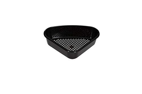 Plastic Triangular Corner Sink Tidy Drainer Kitchen Storage Caddy Basket (Black)
