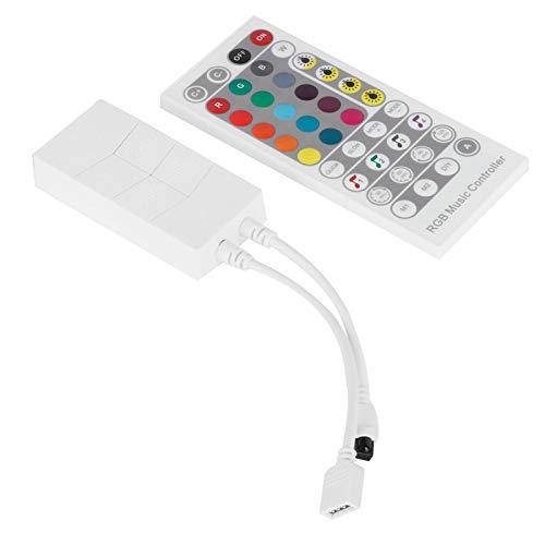 Control del controlador Controlador de música RGB Controlador remoto IR Tira de luz duradera Control remoto LED Controlador WiFi para productos IOS para DC5‑24V