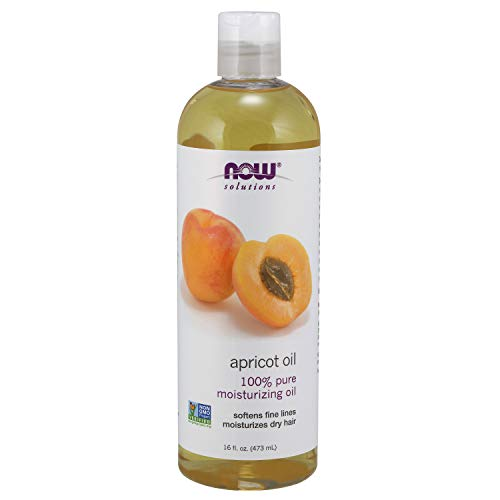 NOW Solutions, Apricot Kernel Oil, Hair Moisturizer, Rejuventaing Skin Oil, Softens Fine Lines, 16-Ounce (Oil Now Foods)