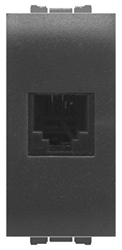 FEB 14084 Presa Telefonica Rj11 Plug 6/4, Grigio Scuro