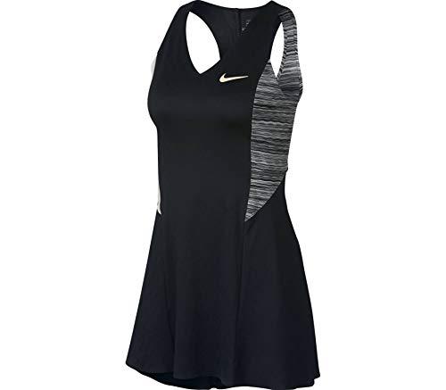 Nike Maria W NKCT Dress NY Kleid für Damen, Mehrfarbig (Black/Wolf Grey/Guava Ice/Guava Ice)