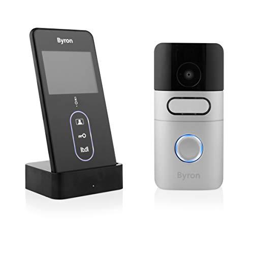 Byron DIC-24615 Kabellose Video Türgegensprechanlage mit tragbarem Monitor/ Aufzeichnungsfunktion von Besuchern