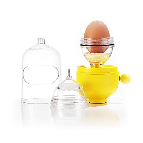 Egg Scrambler Shaker,onewell Hand Powered Golden Egg Maker,Scramble Egg Cracker Without Breaking