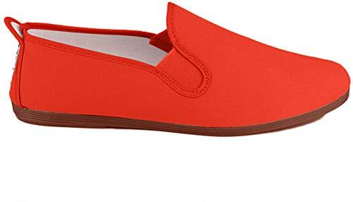 javer 55-1 - Zapatilla Kung-FU Lona JAVER Mujer Color: Rojo Talla: 38