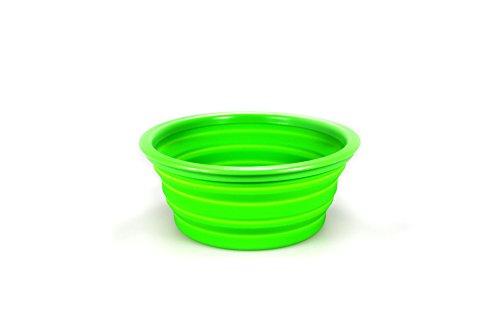 Futternapf Fressnapf Wassernapf Silikon Faltbar Katzen Hunde 1 L Design Grün
