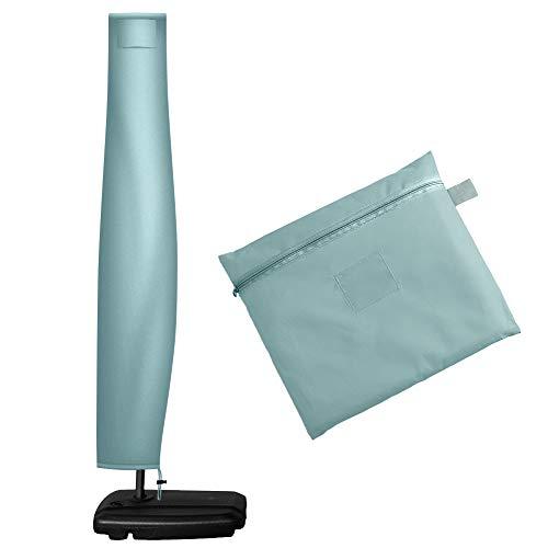 OKPOW, copertura per ombrellone da 1,7 m, in tessuto Oxford, impermeabile, con cerniera, per ombrelli da giardino e ombrelloni multiuso