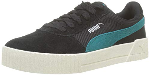 PUMA Carina Lux SD Zapatillas Mujer, Negro (Puma Black-Teal Green 01), 38 EU