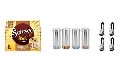 Senseo Kaffeepads Senseo Kaffeepads Senseo Guten Morgen XL + 4 Paddosen passend zur Padmaschine + 4 Padheber
