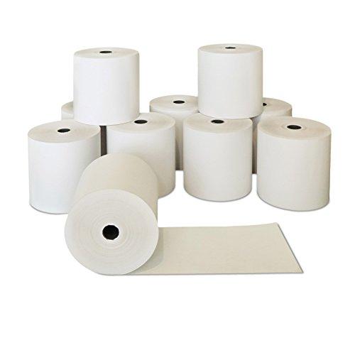 50 x Thermopapierrollen ohne BPA 80mm x 80m x 12mm | Ø80mm | Kassenrollen phenolfrei 80x80x12 | Qualitäts Kasserolle | Papierrollen |HUTNER
