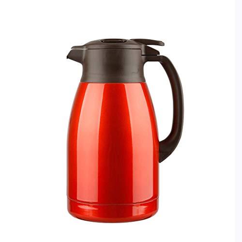 Hervidor de Aislamiento 304 Acero Inoxidable Aislamiento de vacío Pot doméstico Botella de Agua Caliente Capacidad de Gran Capacidad Portátil 1.5L Frascos de Bebida (Color : Red)