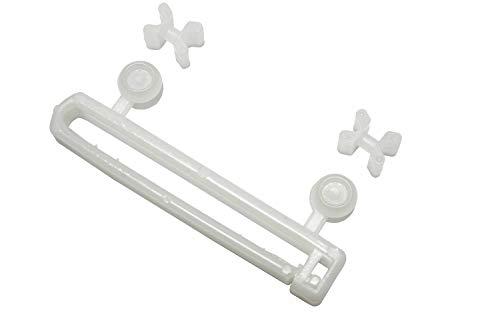 Gardinia Schlaufengleiter, Kunststoff, weiß, 5,9 cm, 10
