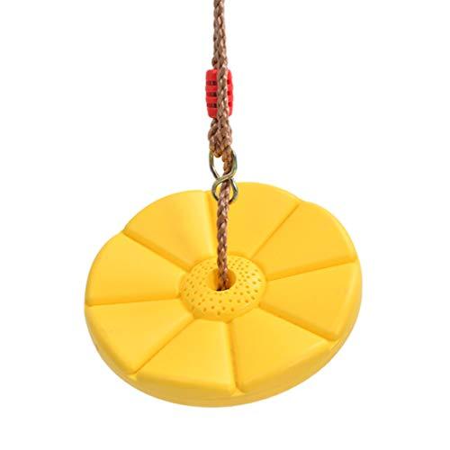 BESPORTBLE - Corda da arrampicata con piattaforme e seggiolino per altalena a disco accessori per bambini, colore: giallo