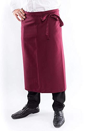 DESERMO Premium Vorbinder 100cm x 80cm (L X B) ✓ Hochwertige Taillen-Schürze für Frau und Mann ✓ Innovative Mischung aus Baumwolle und Polyester ✓ Große Farbauswahl ✓ (Bordeaux)
