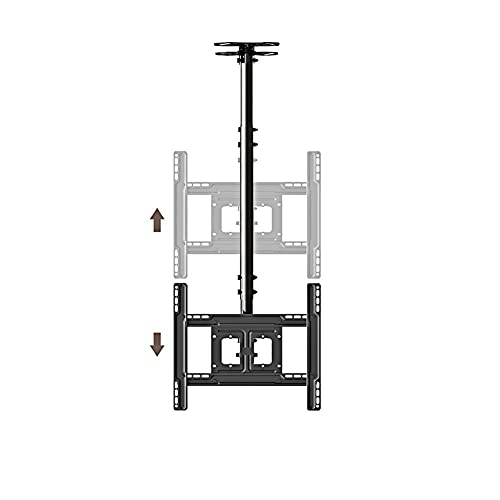 BNFD Soporte Universal para TV de sobremesa Soporte para TV de Piso con Base de Hierro para Pantalla de 32 a 65 Pulgadas Inclinación giratoria Altura Ajustable Soporte 68 Kgs MAX