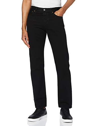 Levi's 501 Original Fit Jeans Vaqueros, Black Stf, 30W / 32L para Hombre