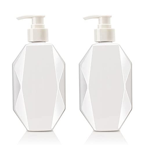 SacJkt Botellas para Dispensador de Jabón de Loción, 2 Pcs 300ML Botellas Dispensadoras con Bomba, para Jabón Corporal Acondicionador de Champú Gel de Ducha Hotel