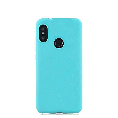 cuzz Funda para Xiaomi Redmi Note 5 Pro+{Protector de Pantalla de Vidrio Templado} Carcasa Silicona Suave Gel Rasguño y Resistente Teléfono Móvil Cover-Azul Claro