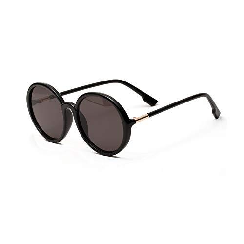 Vintage ronde zonnebril, metalen frame, extra grote zonnebril, zwarte spiegel, retro grote zonnebril