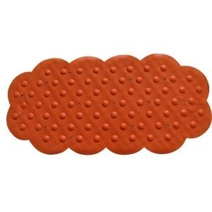 MSV Tapis Caoutchouc Fond de Bain Orange 44x92, Carbonate de Calcium