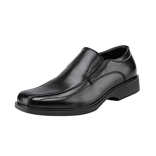 Bruno Marc Men's Cambridge-05 Black Leather Lined Dress Loafers Shoes Size 11 M US