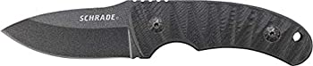 Schrade SCHF57 6.3in Steel Full Tang Fixed Blade Knife with 2.6in Drop Point Blade and G-10 Handle for Outdoor Survival Camping and EDC