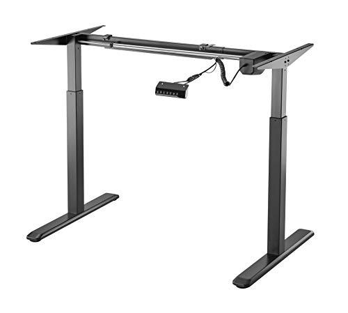 HOKO® Schreibtisch, elektrisch höhenverstellbar, für Büro, Sitz/Stehtisch, Rahmen nur 2 Etagen, Rahmen aus Stahl und digitale Fernbedienung mit Speicherfunktion