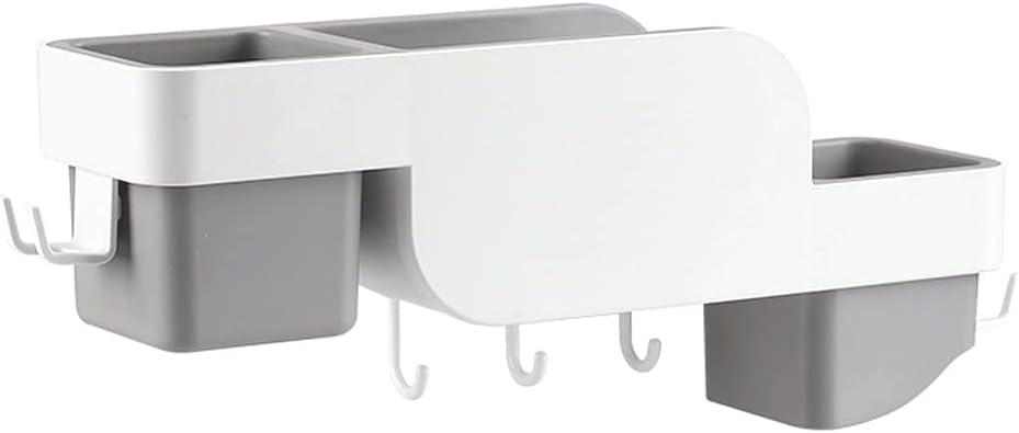 Porta Secador Secador De Pelo Multifuncional Estante Montado En La Pared Secador De Pelo No Poroso Rack De Almacenamiento Para El Hogar Baño De Almacenamiento Secador De Pelo Rack Soporte Secador