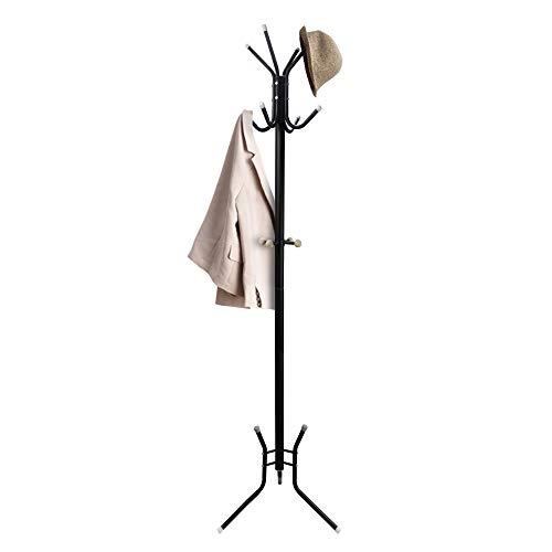Todeco - Appendiabiti, Porta Cappotto E Cappelli - Dimensione: 50,0 x 50,0 x 177,8 cm - Numero di piedi: 3 - Nero