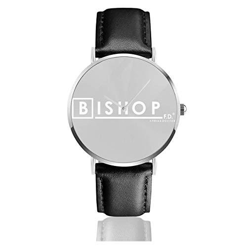 Bishop Fd Freak Doctor Fringe Watches Orologio in pelle al quarzo con cinturino in pelle nera per regalo collezione