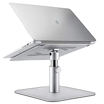 OUTAD Adjustable Laptop Stand Multi-Angle and Height 360°Rotation Aluminum Alloy Notebook Holder with Cooling Holes Vents for Apple MacBook Air Pro Dell HP Lenovo 10-17