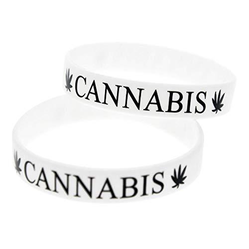 Vempires Herren Armbänder Silikon Armbänder Cannabis Blatt Punk Musical Band 10 STÜCKE