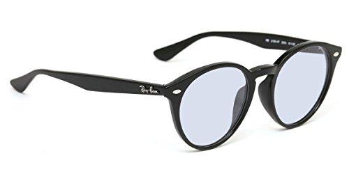 レイバン サングラス RX2180VF 2000 51サイズ ライトブルースモーク ライトカラーレンズセット RayBan メガネフレーム 紫外線カット ラウンド 丸メガネ 黒縁 Ray-Ban LIGHT COLORS 薄い色