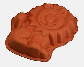 Kuchenform - Backform - Löwe - 100% Silikon - 30 cm x 15,5 cm - 5,5 cm hoch