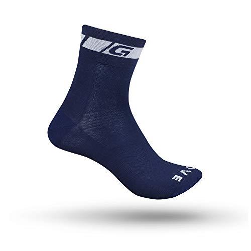 GripGrab Verano Deporte Altura 12cm Calcetines Ciclismo, Adultos Unisex, Azul Marino, M (41-44)