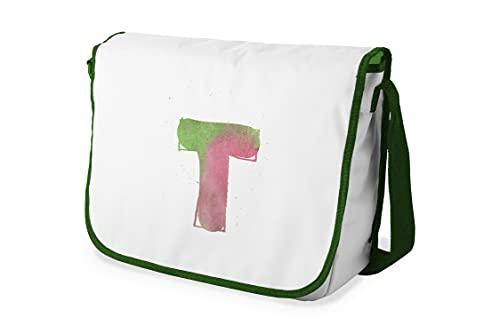 Bonamaison – Bolsas de Mensajero con Pulsera de Color Caqui para Estudiantes, Mochilas Escolares para niñas y niños, 29 x 36 cm