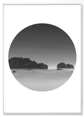 Geiqianjiumai Scandinavische minimalistische zwart wit bos Engels landschap letters canvas print schilderij muurschildering poster woonkamer interieur