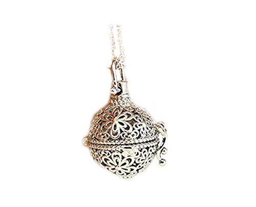 Collar difusor de aceite de aromaterapia, collar con medallón de plata, regalos extraños para mujeres, colgante antiguo, botella de perfume
