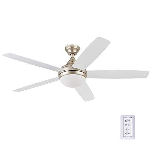 Prominence Home 80094-01 Ashby Ceiling Fan with Remote Control and Dimmable Integrated LED...